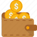 cash, coins, guardar, money, pocket, save, saving, wallet icon