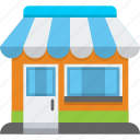 market, merchant, seller, shop, store, store house, storefront icon