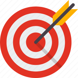 aim, arrow, business, focus, goal, target icon