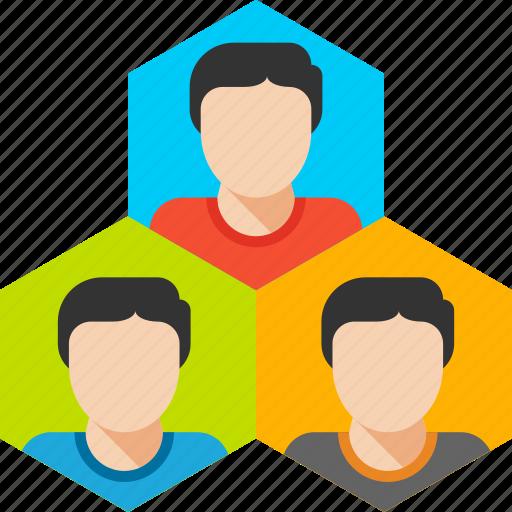 building, group, management, organization, team, team work icon