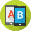 ab, compare, comparison, evaluation, experiment, test, testing icon