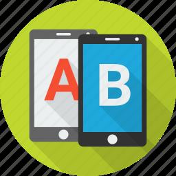 ab, compare, comparison, evaluation, experiment, test, testing icon