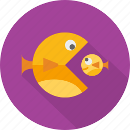 acquisition, business, buyout, corporate, fish, merger, ownership icon