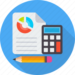 accounting, budget, calculate, finance, investment, money, report icon