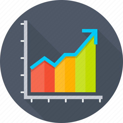 chart, diagram, escalation, growth, raise, report, sales icon