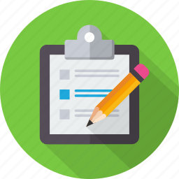 clipboard, document, list, paste, pencil, report, task icon