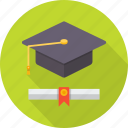 college, degree, education, graduation, hat, school, student icon
