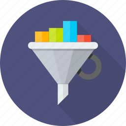 convertion, exchange, filter, funnel, graph, optimization, ratio icon