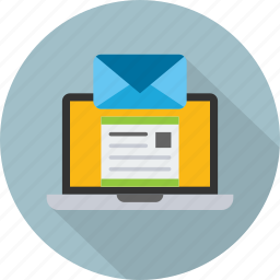 email, envelope, laptop, mail, marketing, message, seo icon