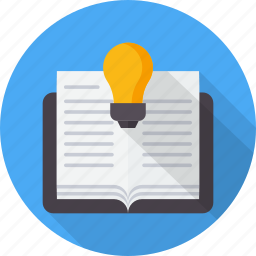 book, bulb, education, guide, idea, learning, tutorial icon