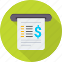 bill, billing, cheque, document, invoice, payment, receipt icon