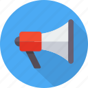 announcement, bullhorn, loud, megaphone, promo, promotion, speaker icon