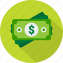 bill, cash, dollar, greenback, money, paper, payment icon
