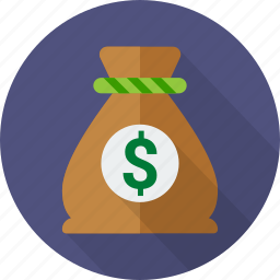 bag, bank, dollar, money, moneybag, sack, saving icon
