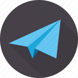 file, flight, fly, paper, plane, send icon