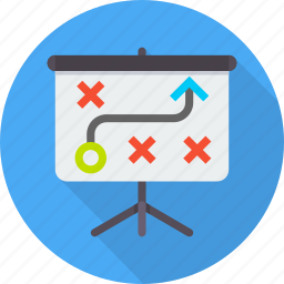 board, business, plan, presentation, strategy, tactics icon