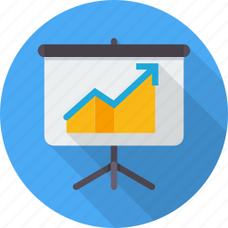 board, conference, graph, meeting, powerpoint, presentation, training icon