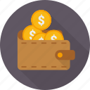 cash, coins, money, pocket, save, saving, wallet icon