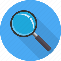 explore, find, loupe, magnifyer, magnifying glass, search, view icon