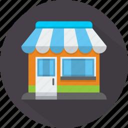 market, merchant, seller, shop, store, store house, storefront icon