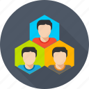 building, group, management, organization, team, team work icon