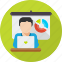 conference, meeting, presentation, seminar, training, workshop icon