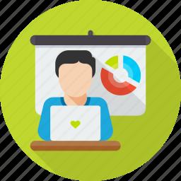 conference, meeting, presentation, seminar, training, workshop icon