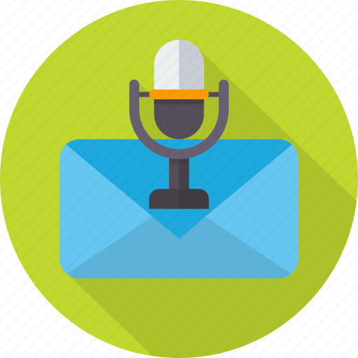 audio, email, envelope, letter, mail, message, voice icon