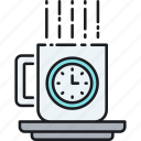 break, coffee, coffee break, lunch break, lunch time icon