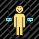 feedback, review, testimonial icon