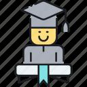degree, fresh grad, fresh graduate, graduate, graduation, mortarboard, student