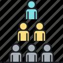 hierarchy, organisational chart, organizational chart icon