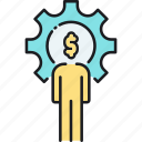 accountant, accounting, budget, finance, management, money icon