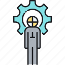 dummy, prototype, prototyping, test dummy icon