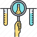 development, experiment, r&d, research, test, test tube icon