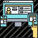 design, development, fluid, layout, responsive, web, website icon