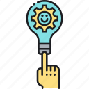 idea, lightbulb, solution icon