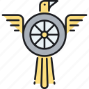 eagle, flight, integrity, speed icon