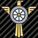 eagle, flight, integrity, speed icon