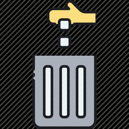 dustbin, garbage, rubbish, trash, trash can icon