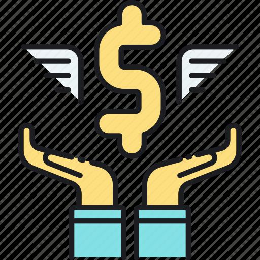 angel, capital, investor, venture icon