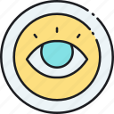 eye, mission, vision icon