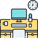 coworking space, desk, office, work station, workspace icon