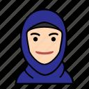 avatars, startup, hijab, muslim, woman