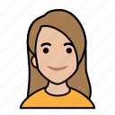 avatars, startup, casual, girl, woman icon