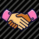 agreement, handshake, negotiation, peace icon