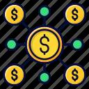 crowfunding, financing, fundraising, startup icon