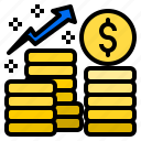 analytics, business, chart, graph, growth, increase, money icon