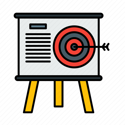business, company, goal, market, mission, target, vision icon
