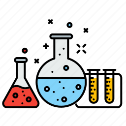 business, chemistry, experiment, market, research, vial icon